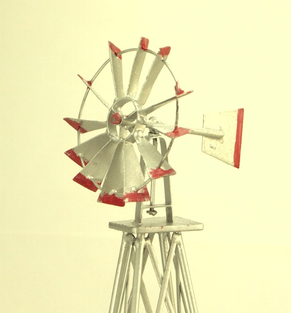 Old West Farm Windmill - All Metal - GRAY - New! - 101-0917